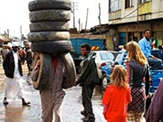 the amazing tyre man!